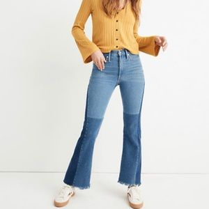 Madewell x Isko Patchwork Rigid Flare Jeans